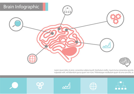 iconography: infographics vector brain design