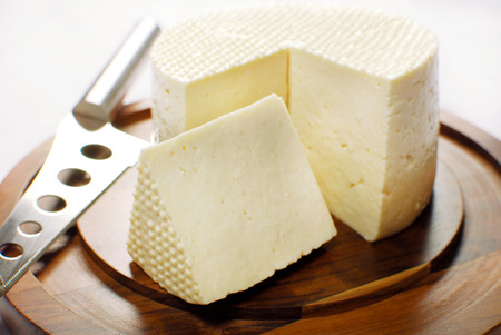Brazilian Minas cheese 版權商用圖片
