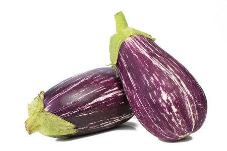 Fairy tale eggplant in white background