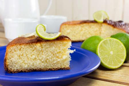 Traditional lemon cake