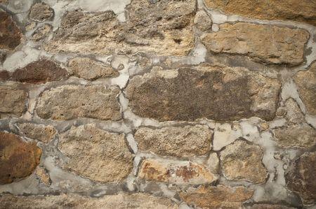 medioevo: Bellissimo antico muro di pietra arenaria dal Medioevo