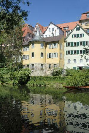 wasser: The tower where the poet Friedrich Hoelderlin lived Stock Photo
