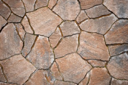 terrace house: Background from paving stones, irregular natural stones