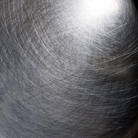Superficie de metal rayado como fondo, plateado Foto de archivo