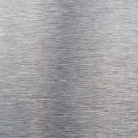 Brushed silver aluminum as a background motive Stock Photo