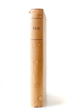 Old book with the title 'Time' on white background Stock Photo - 6376162