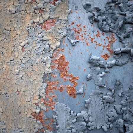 flaking: Structured metal surface as an abstract background motive Stock Photo