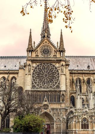 notre: Paris. Notre Dame cathedral. vintage effect Stock Photo