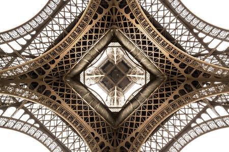 Tour Eiffel architecture détail, vue de dessous. angle unique Banque d'images - 52686127