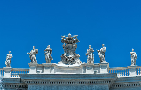 Rome, vatican city Berninis sculpture in St. Peters square Editorial