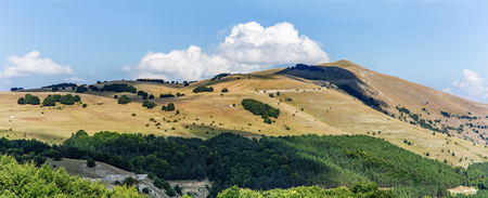 sibillini: mountains landscape panorama. Italy Sibillini national park