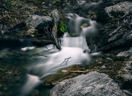 Waterstroom in bos