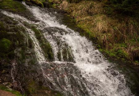 waterval magisch panorama. berglandschap