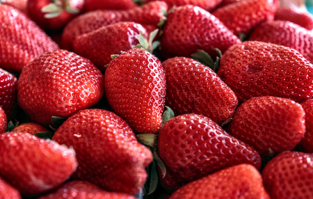 Strawberry fruit close up