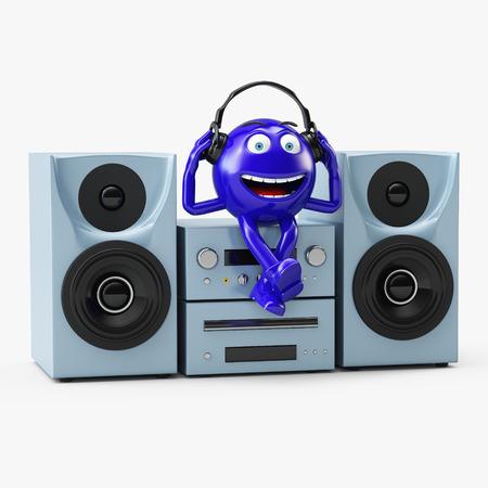 blue man: Round-head blue man