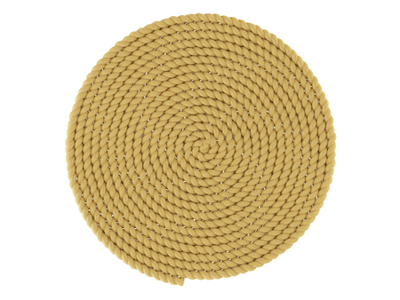Round carpet of a rope on a white background Reklamní fotografie