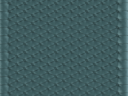Wall panel turquoise capitone on a white background 3d rendering