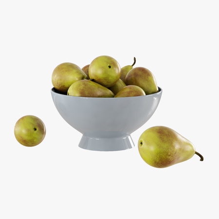 Pear in the gray vase on a white background 3d rendering Banque d'images - 116533647