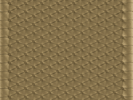 Wall panel gold capitone on a white background 3d rendering