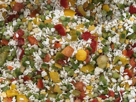 Frozen Hawaiian Vegetable Mix in Refrigerator