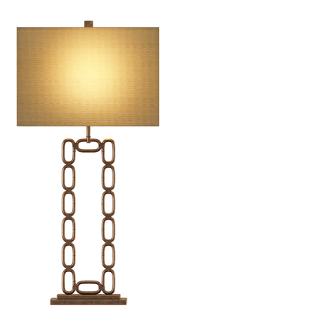 Table lamp metal chain base isolated background 3d rendering