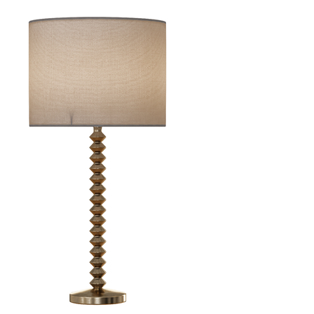 Table lamp metal base isolated background 3d rendering