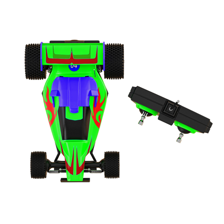 Racing car with remote control isolated background 3d rendering Stockfoto