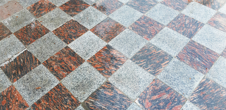 Outdoor glossy tiles in the park during the day in Sochi 免版税图像