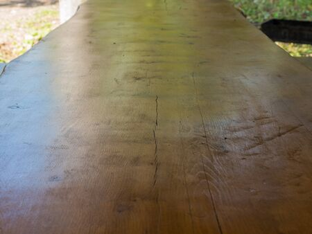 Beautiful brown wood texture with a crack and a knot table Stok Fotoğraf