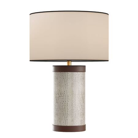 Decorative table lamp made of leather on isolated background. 3d rendering Stockfoto
