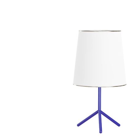Decorative floor lamp base blue on isolated background. 3d rendering Stockfoto