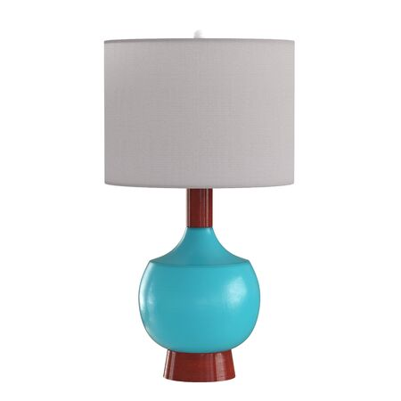 Decorative table lamp on isolated background. 3d rendering Stockfoto