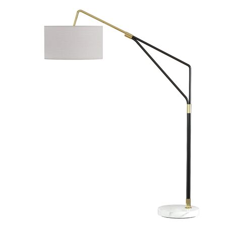 Big floor lamp base metal and mramor on isolated background. 3d rendering