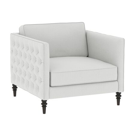 White classic armchair from fabric on an isolated background. 3d rendering Stock fotó