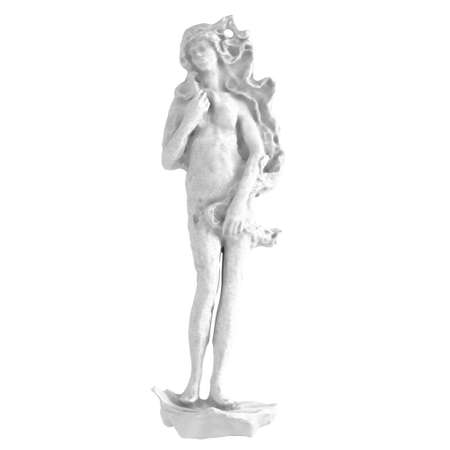 Light stone stylized statue of aphrodite on a white background. 3d rendering