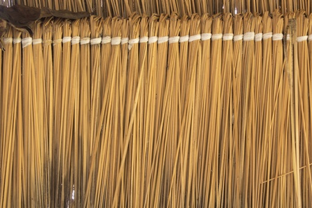 close up view of reed thatch  Stock Photo