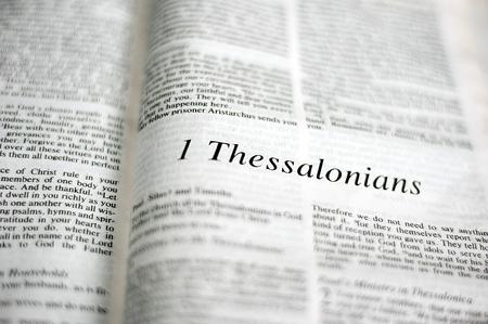 1 Thessalonians passage Stock fotó