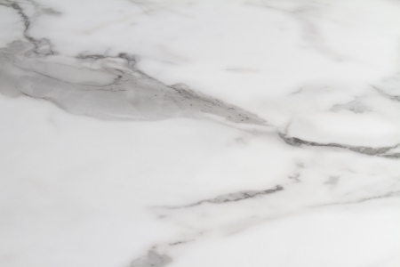 Carrera or carrara marble benchtop close up background