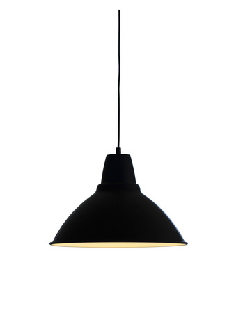 Isolated black pendant lamp or light graphic