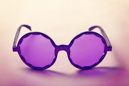 grooves: Funky purple sixties hippy sunglasses with shadows horizontal