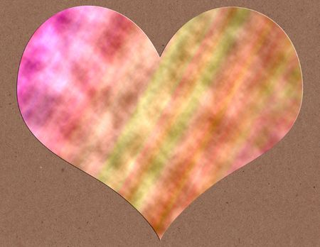 A tie dyed heart on kraft paper photo