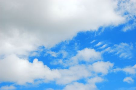 Unusual white and gray clouds against a brilliant blue sky Stock fotó - 6472076