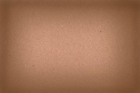 Brown kraft paper background with darkened edges
