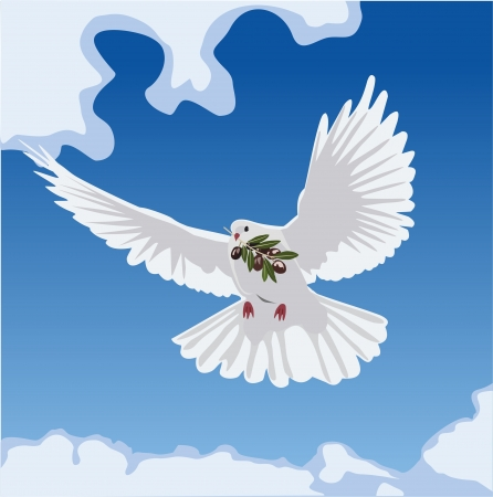 dove with olive branch Stock Vector - 18876654