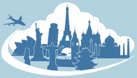 silhouettes of world-class attractions