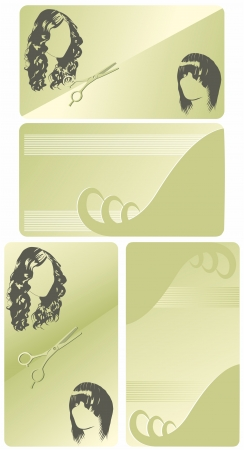 background with curls Vector