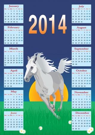 Calendar with a horse