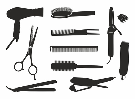 hairdressing tools Vectores