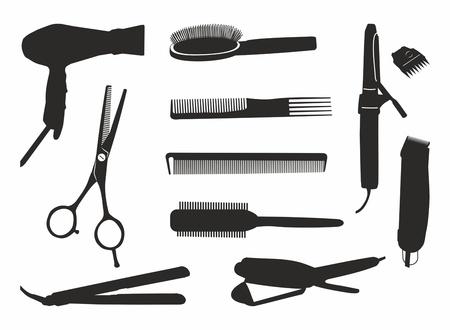hairdressing tools Stock Illustratie