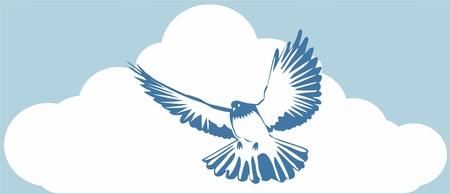 blue dove Vector